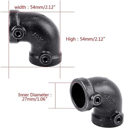 GoYonder Juego de 10 Codos de tuber/ía de Hierro maleable de 1,9 cm para proyectos de Bricolaje