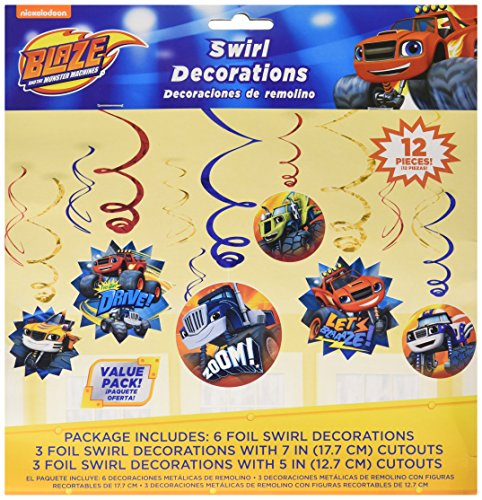 Blaze and the Monster Machines Value Pack Foil Swirl Decorations, Party Favor