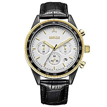 WERTY&K Reloj Cronógrafo para Hombre - Reloj De Pulsera De Negocios De Lujo Multifuncional Vestido Informal