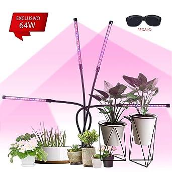 360 Grad verstellbarer Schwanenhals Pflanzenlampe Automatische Ein- // Ausschalten L/ängere Klammer VAZILLIO 32 COB 64W Pflanzenlicht dickeres Pad