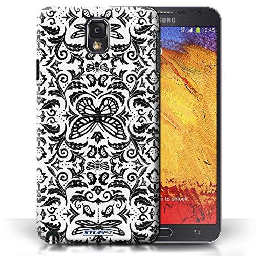 Etui / Coque pour Samsung Galaxy Note 3 / Noir / Blanc conception / Collection de Motif médaillon