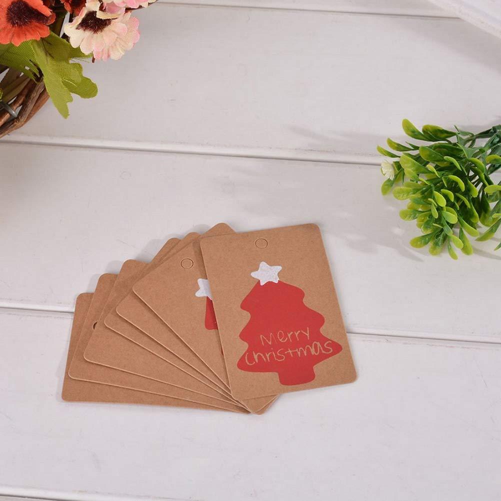 100pcs TOYMYTOY Etichette di Carta Natalizia Che appendono Gli Accessori Fai-da-Te della Decorazione del Regalo dellEtichetta per Il Nuovo Anno di Natale