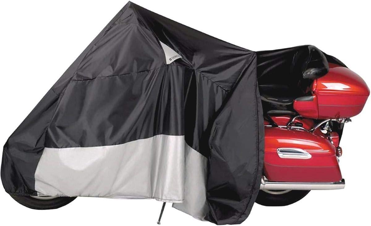 Black Dowco Guardian 50022-00 WeatherAll Plus Indoor//Outdoor Waterproof Motorcycle Cover XXX-Large EZ Zip