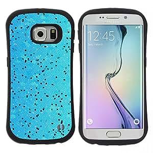 """Pulsar iFace Series Tpu silicona Carcasa Funda Case para Samsung Galaxy S6 EDGE , Modelo de puntos Negro vibrante piscina Nadador"""""""