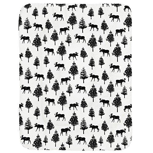 Moose Black Onyx - Carousel Designs Onyx Moose Crib Comforter
