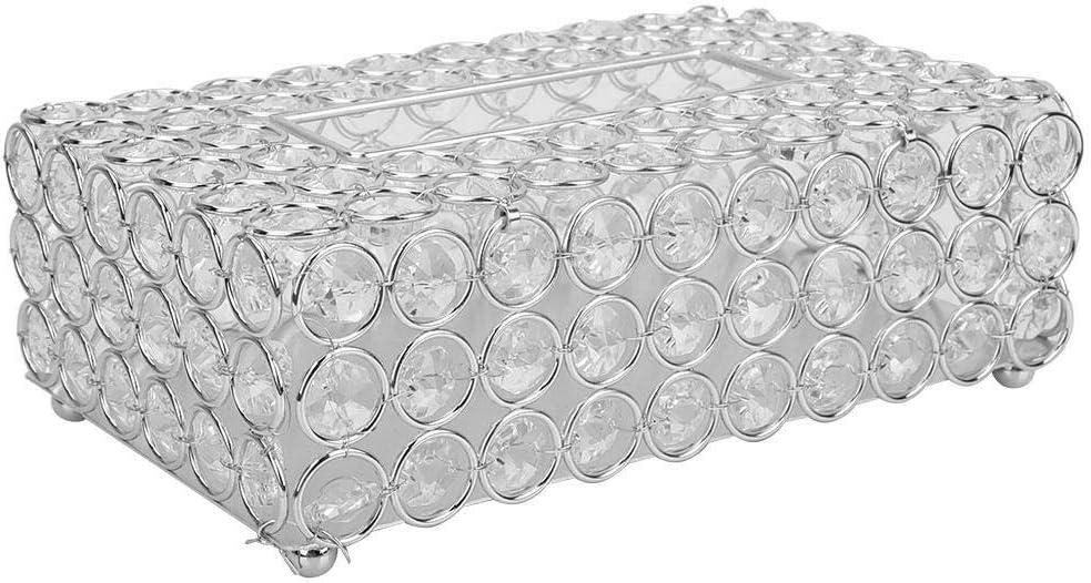 Argento Hztyyier Contenitore di tovaglioli di Cristallo Decorativo Rettangolare portatovaglioli Contenitore di Carta di Cristallo per la Decorazione Elegante del Ministero degli Interni