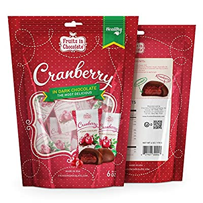 Fruits in Chocolate Dark Chocolate Covered Cranberries