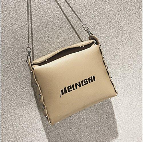 Handbag Paquete de Verano, la Nueva Bolsa de Mensajero Coreana, Bolso de Hombro. Bolsos de personalidades Salvajes. A+ (Color : Oro) Oro