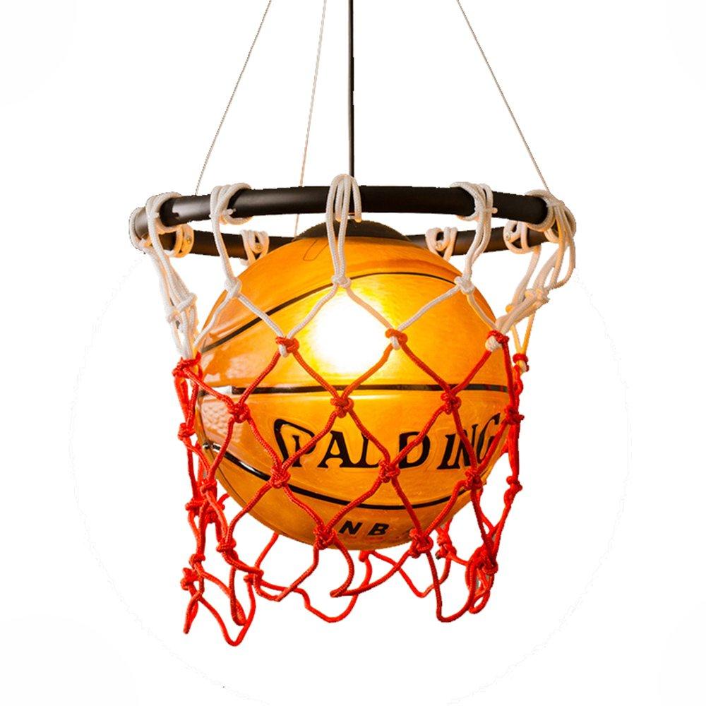 HJXDtech- HJXDtech- HJXDtech- Kreative Acryl Basketball und Nets Pendelleuchte Home Loft Deco-Decken-Lampe mit E27 Birne e3c88a
