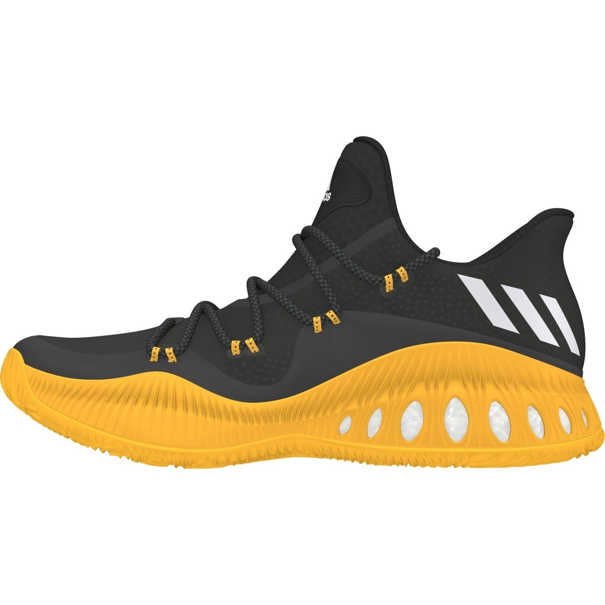new product bf6ef af9fa Amazon.com  adidas Crazy Explosive Low Shoe Mens Basketball 9.5 Black-White-Gold   Basketball