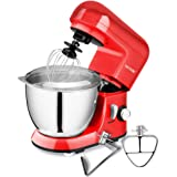 CHEFTRONIC Stand Mixers SM-985, 350W 4.2qt Tilt-head Kitchen Electric Mixer (SM985-Red)