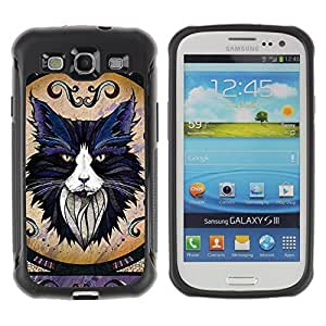 Hybrid Anti-Shock Defend Case for Samsung Galaxy S3 / Majestic Cat