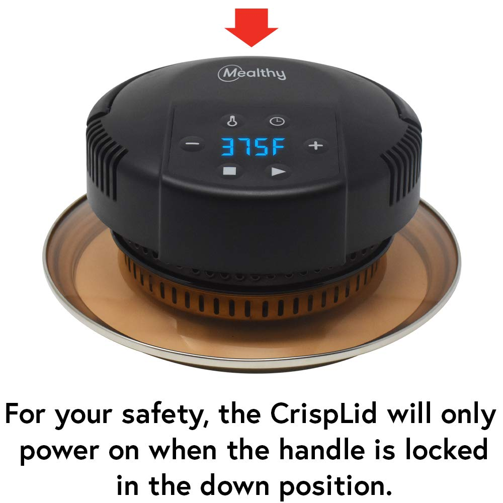 Mealthy CrispLid for Pressure Cooker - Turns your Pressure Cooker into an Air Fryer - Air fry, Crisp or Broil fits 6 & 8 Quart. Comes with Basket, Trivet, Silicone Mat, and Tongs plus Free Recipe App by Mealthy (Image #5)