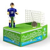 Amyove Piggy Bank Creative Football Piggy Bank Electric Powered Soccer Player Goal Kicking Funny Novelty Money Box Coin Bank Great Gift for Football Fans