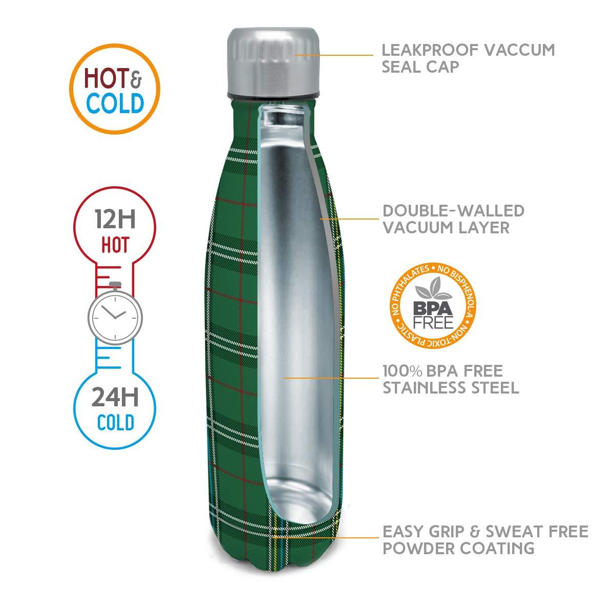 NERTHUS Termo Doble Pared para frios y Calientes Dise/ño Coral de Acero Inoxidable con Tapon Pajita 500 ml Libre de BPA