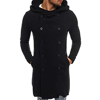 Marvin Cook Long Hooded Men Jacket Trench Coat Men ...