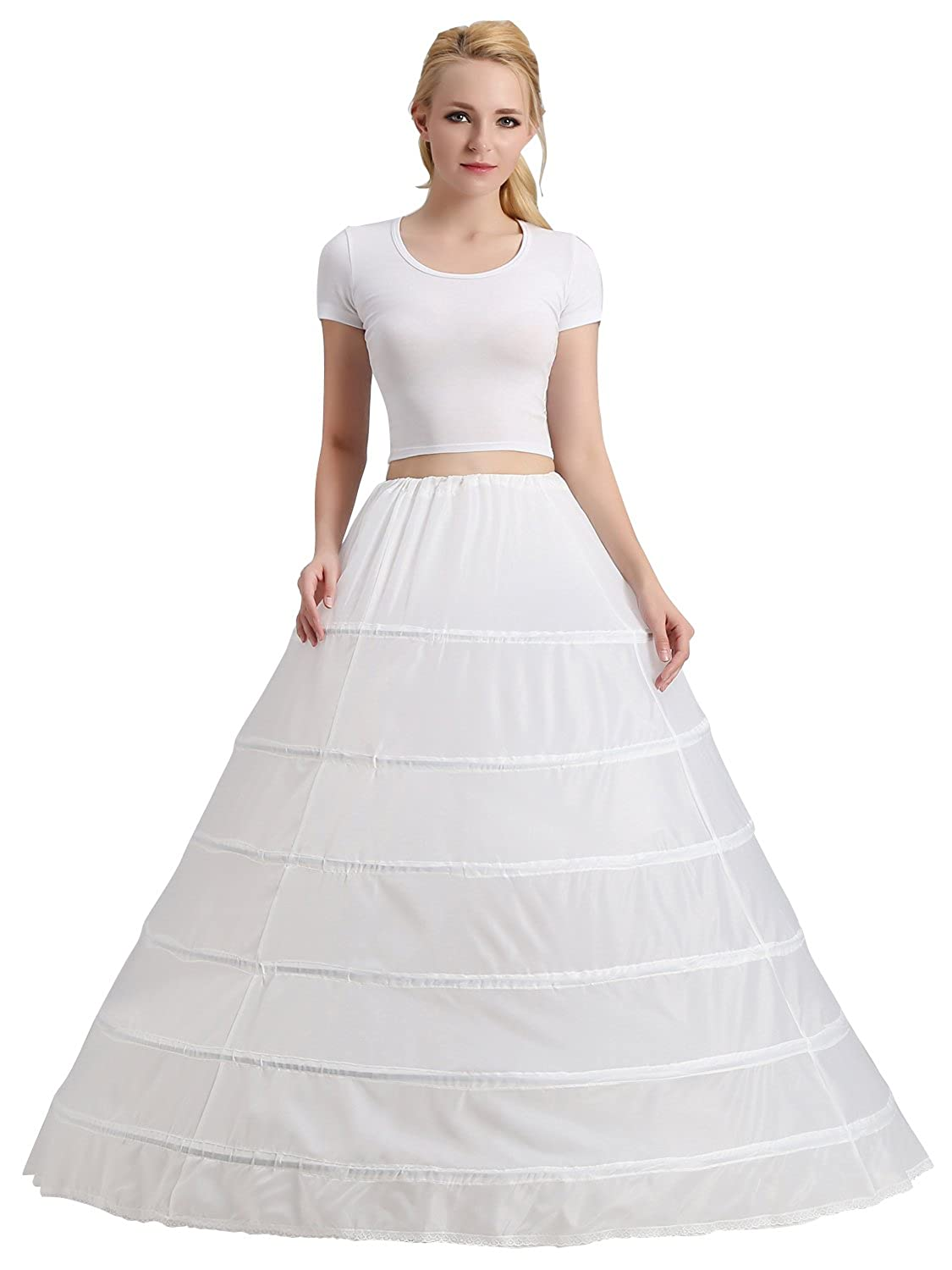 iLovewedding Women Petticoat for Ball Gown Dress Underwear Crinoline 6 Hoop