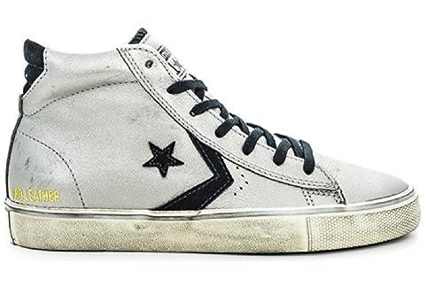 b687fcecd3f3f Converse - Zapatillas de Cuero para Mujer Gris Plata 40 EU  Amazon.es   Zapatos y complementos