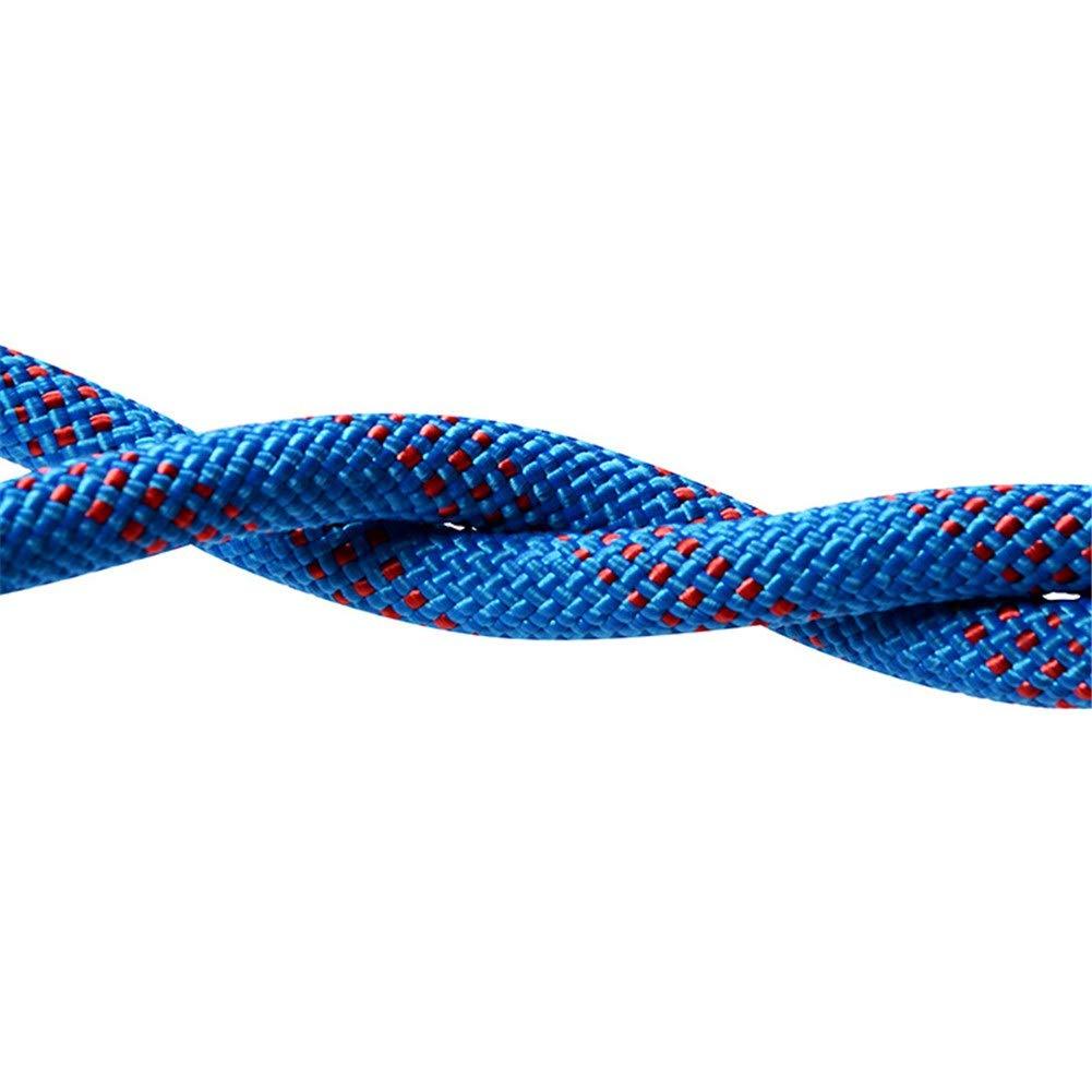 - Escalade Corde Corde d'escalade en diamètre élevé de 10 mm en Polyester pour spéléologie et Sport - 12mm - Bleu - 10 15 20 25 30 35 40 50 mètres 50m