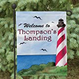 Cheap GiftsForYouNow Personalized Lighthouse Double Sided Garden Flag. Size: 12 1/2″ w x 18″ h. Indoor & Outdoor Decor use.