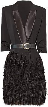 BINGQZ Mujeres Vestido Coctel Otoño Nuevo Vestido Negro Falda ...