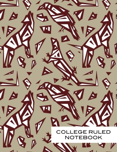 ok: Spirit Desert Animals College Ruled Journal Composition Book (8.5x11), 120 pages, Creative Writing Coyote, Lizard, Raven. Red and Beige. (Beige Lizard)