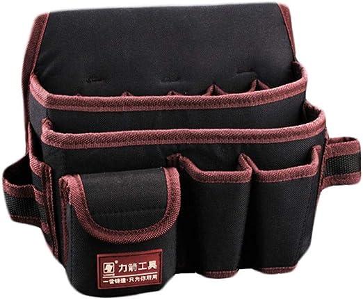 Bolsillos para Herramientas Cinturones de Nylon Bolsillos mec/ánicos Profesionales Bolsas de Trabajo adecuadas para electricistas