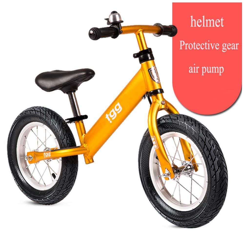 CHRISTMAD Fahrrad Für Kinder Laufendes Fahrrad Für Kinder Kein Pedal Walking-Fahrrad Verstellbarer Sitz Und Lenker Mit 110 Lbs Kapazität Für Alter Von 2 Bis 5 Jahren   80-120 cm,Gelb