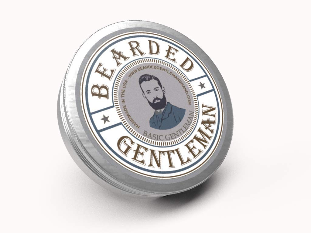 Bearded Gentleman : Beard Balm | Unscented | All Natural Beard Conditioning Balm | 2 oz | Handmade