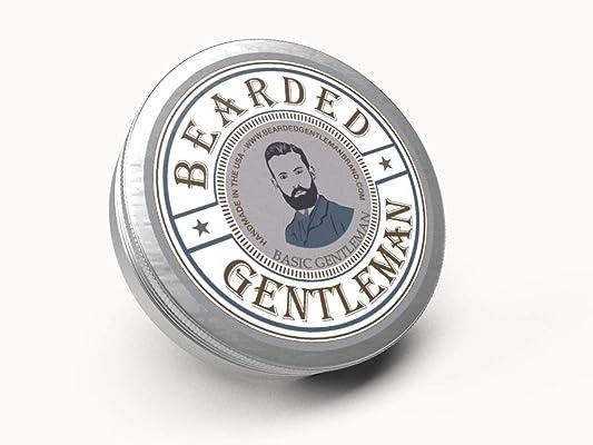 Bearded Gentleman : Beard Balm | Unscented | All Natural Beard Conditioning Balm | 2 oz | Handmade