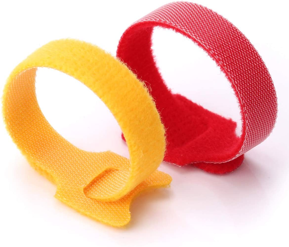 Multi-Purpose Cable Ties Reusable Cord Ties 6 Inch Cable Straps Microfiber Fastening Straps Used for Headphones Phones Electronics PC wire Management 5 Color
