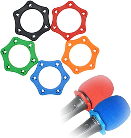 Anti-Rolling Microphone Protection Ring Wireless Slip Holder Protective Covha