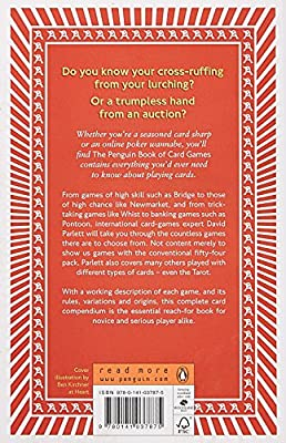 The Penguin Book Of Card Games Everything You Need To Know To Play Over250 Games Parlett David Amazon Com Au Books