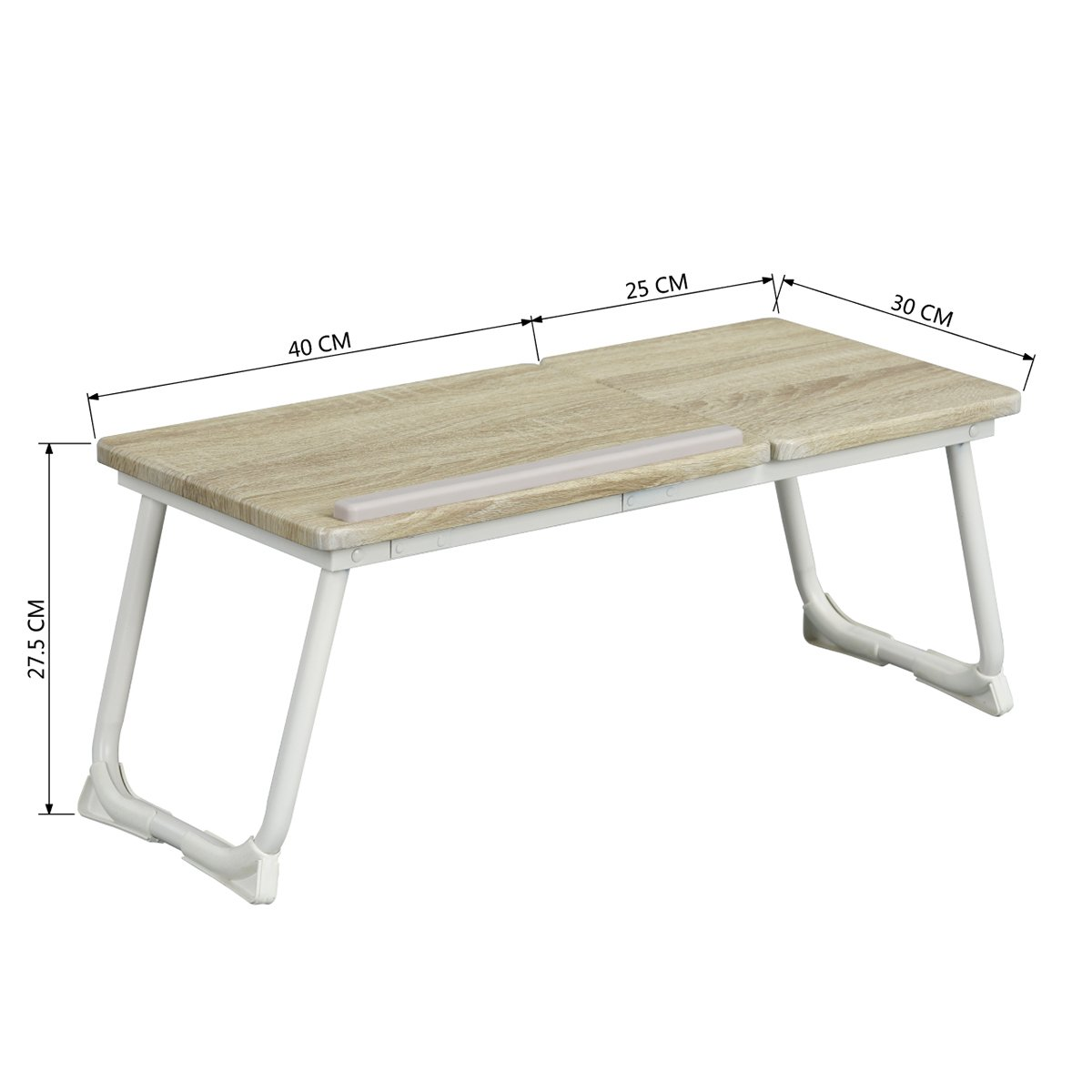 Ajustable en /ángulo de Haya Mesa de Cama Plegable para Ordenador port/átil Sep Home