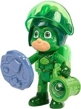Simba PJ Masks 109402362 - Figura de Gecko / Campo de Pijama / Figura de acción / articulada / Accesorios con luz / 8 cm de Alto, para niños a Partir ...
