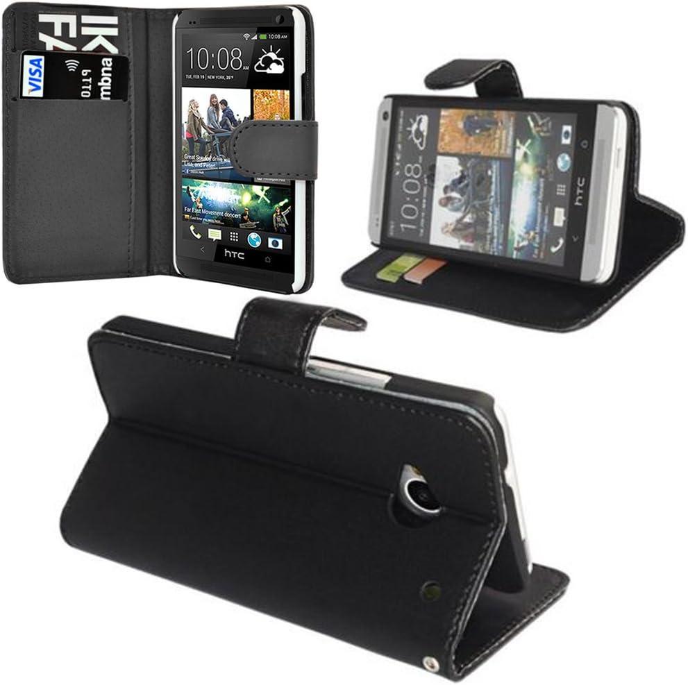 VCOMP HTC Desire 601 Zara/ Dual Sim: Funda cartera Cuero PU Tipo libro solapa soporte video: Amazon.es: Electrónica