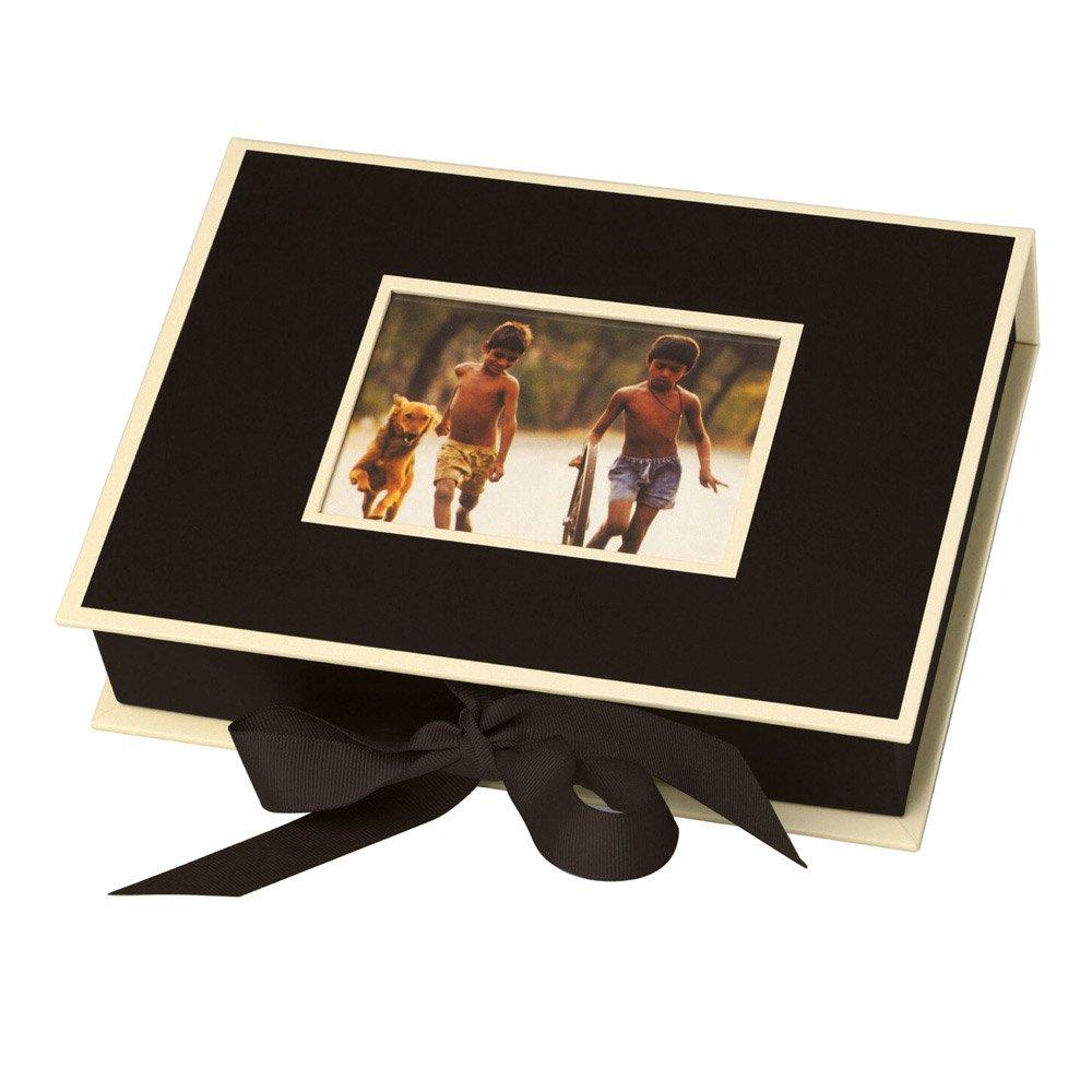 Semikolon Small Photo Box, Ribbon Tie Closure, Black (31507)