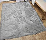 Cheap Glitter Shag Shaggy Furry Fluffy Fuzzy Sparkle Soft Modern Contemporary Thick Plush Soft Pile Pure White Off White Cream Two Tone Area Rug Carpet Bedroom Living Room 8×10 ( Harmony Off White )