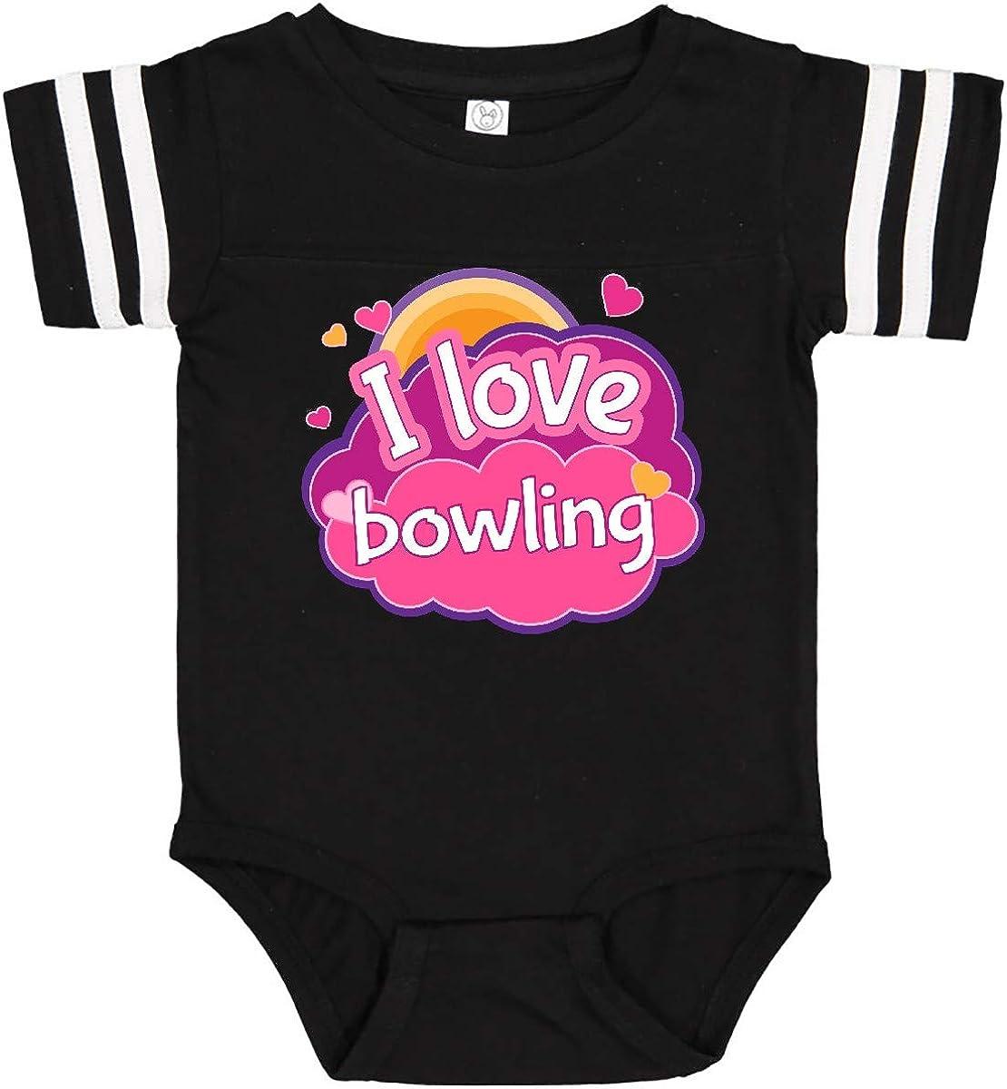 inktastic Bowler I Love Bowling Infant Creeper