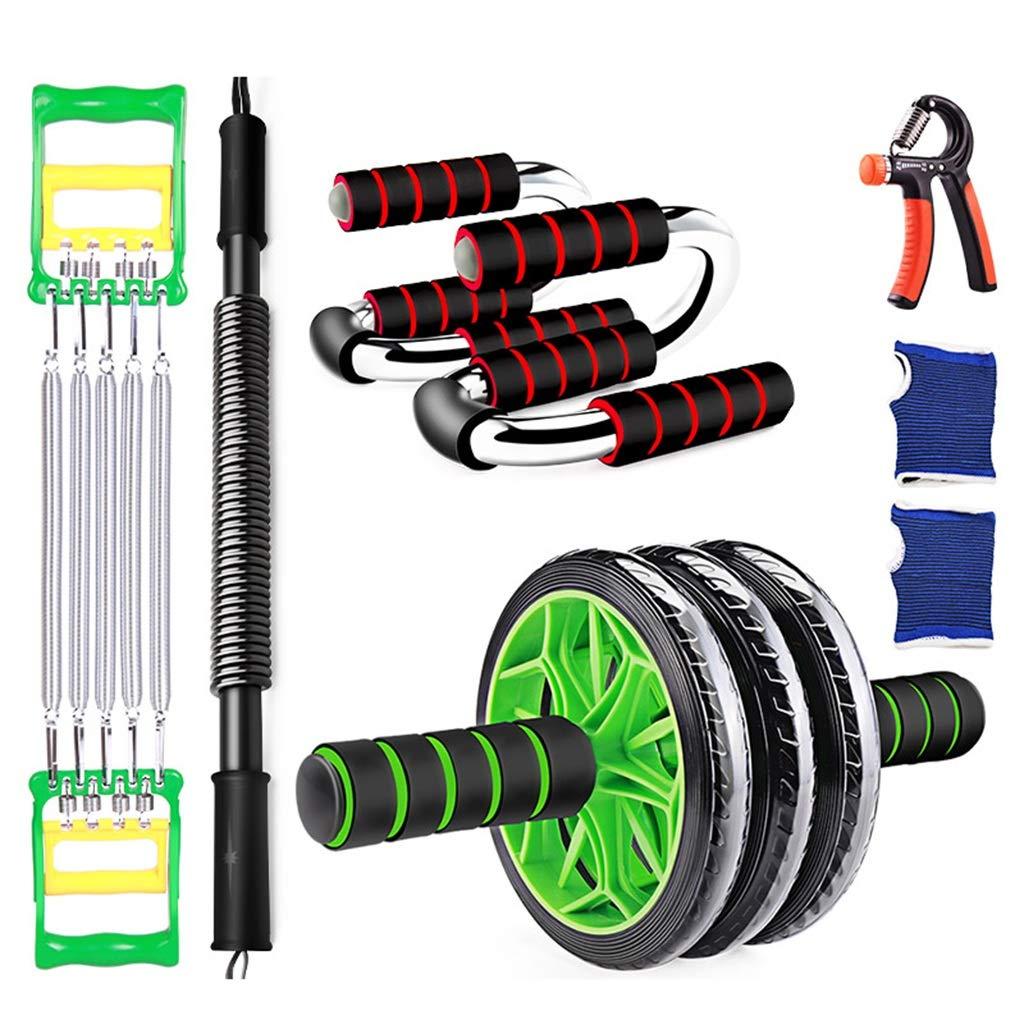 Zhiniu Fitnessgeräte Set, Indoor Arm Bein Bauch Exerciser Arm Seilspringen Yoga Mat Grip Bauchmuskel Rad Gewichtsverlust Ausrüstung