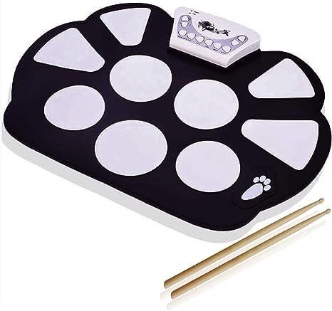 Enrolle Bateria Musical Electrónica para Niños - DigitalLife Kit De Pad Roll Up Silicona Portátil Plegable - Instrumentos de Música: Amazon.es: Instrumentos musicales