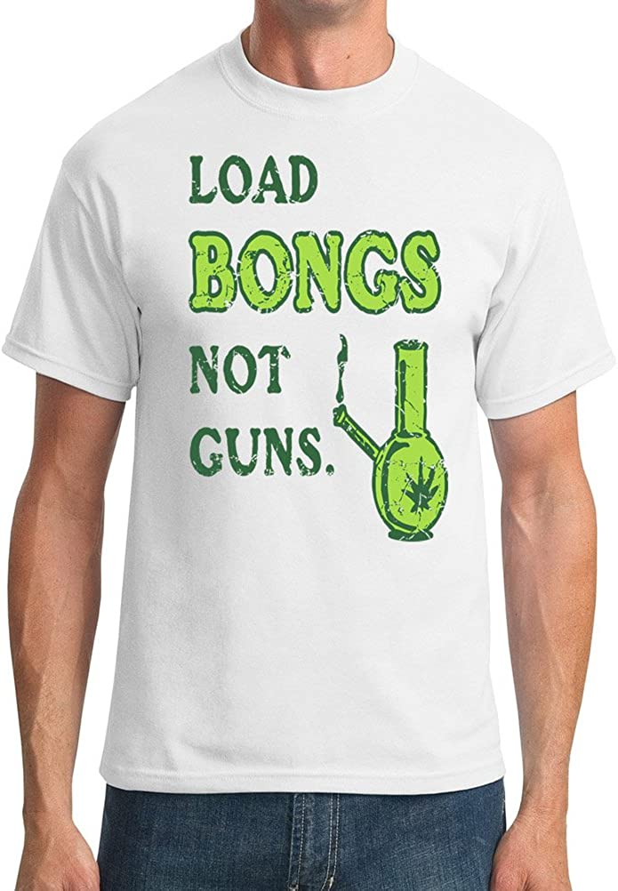 Funny Smoker Load Bongs Not Guns Mens T-Shirt