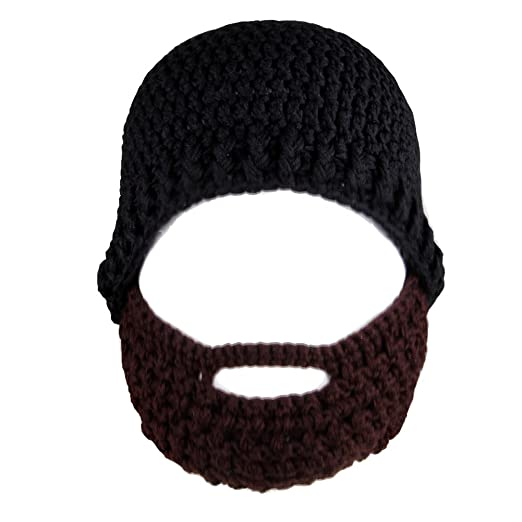 26601e179ee JINZFJG-SX Knitted Balaclava Crochet Beard Hat Bicycle Mask Ski Cap Roman  Knight Cool Funny