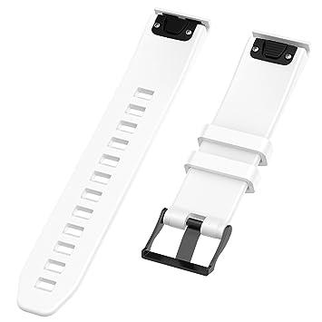 Chofit QuickFit - Correa de Repuesto para Reloj Inteligente Garmin Fenix 5/Fenix 5 Plus DE 22 mm, Blanco: Amazon.es: Deportes y aire libre