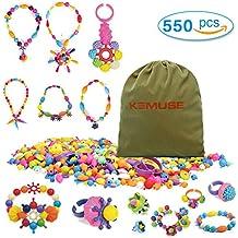 Kemuse 550 PCS Kids Pop Snap beads Set- Creative DIY Jewelry Kit for Girls Necklace and Bracelet Art Crafts Toys