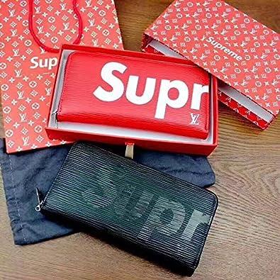 on sale fd4fb b498a Amazon | SUPREME シュプリーム 財布 男女兼用 長財布 [並行輸入 ...