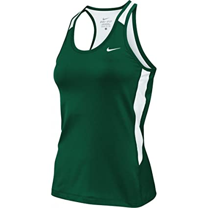 d8548ebf20552 Image Unavailable. Image not available for. Color  Nike Womens Airborne II  Dri-Fit Tank Top w Built In Bra Green White