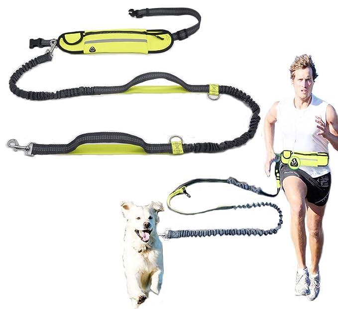 1 opinioni per Hands free guinzagli retrattile guinzaglio del cane con cintura in vita e un