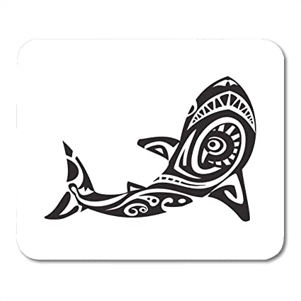 b0f1b1e45 Amazon.com : Mouse Pads Abstract Black Tribal Shark Tattoo in Maori ...