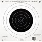 """Champion Traps and Targets 40777 NRA Paper TQ-4(P) 100-yard Single Bullseye to Train or Qualify Target (Pack of 100), Black, 14"""" x 14"""""""